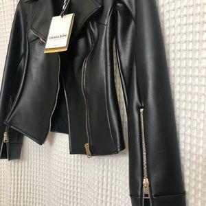 Chiara Boni Jackets & Coats - Chiara Boni Leather Jacket - BRAND NEW!!!!